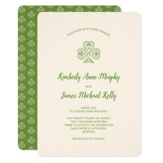 Celtic elfenben för fnurraShamrockbröllop 12,7 X 17,8 Cm Inbjudningskort