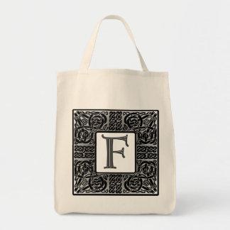 """Celtic """"f-"""" Monogram för silver Mat Tygkasse"""