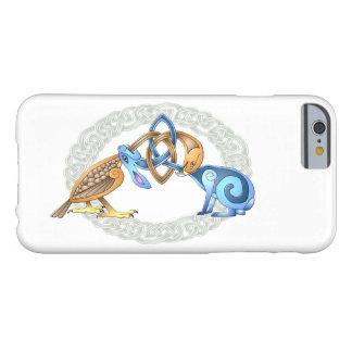 Celtic fågel och kanin med ramen barely there iPhone 6 fodral