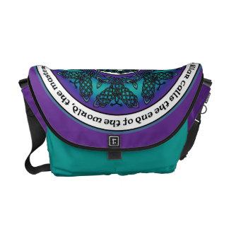 Celtic fjärilsMandala Messenger Bag