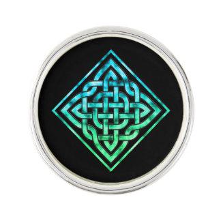 Celtic fnurra - design för diamantblåttgrönt rockslagsnål