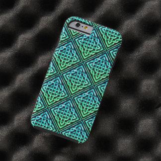 Celtic fnurra - diamantblåttgrönt tough iPhone 6 fodral