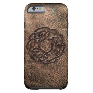 Celtic fnurra som utföra i relief på läder tough iPhone 6 skal