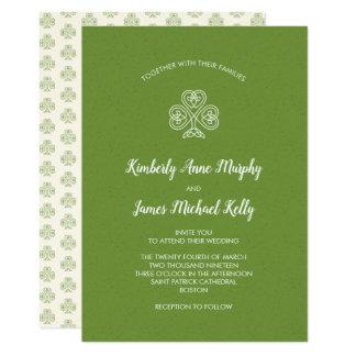 Celtic fnurraShamrock som gifta sig 2 12,7 X 17,8 Cm Inbjudningskort