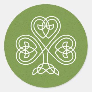 Celtic fnurraShamrockbröllop Runt Klistermärke