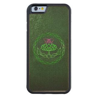 Celtic fnurraThistle Carved Lönn iPhone 6 Bumper Skal