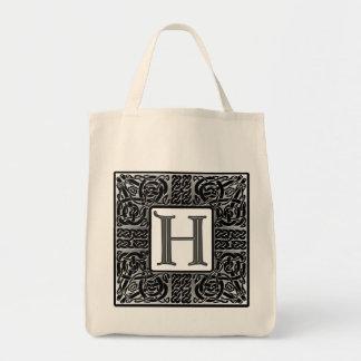 """Celtic """"H-"""" Monogram för silver Mat Tygkasse"""