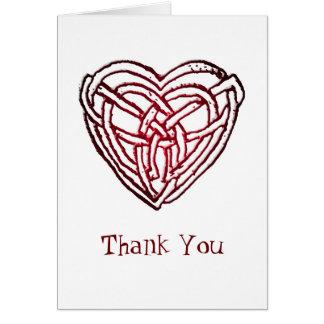 """Celtic hjärta - """"tacka dig """", kort"""