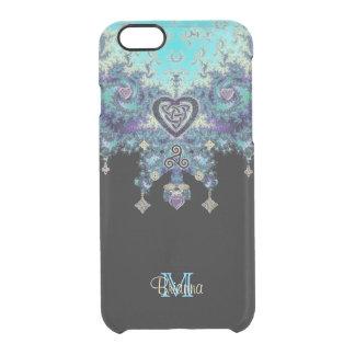 Celtic hjärtaFractaldesign Clear iPhone 6/6S Skal