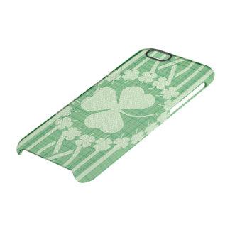 Celtic irländskt Shamrockmönster Clear iPhone 6/6S Skal