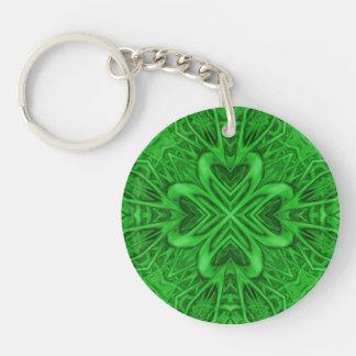 Celtic klöverakryl Keychains, 6 stilar Dubbelsidigt Rund Akryl Nyckelring