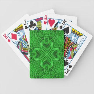 Celtic klöverKaleidoscope Bicycle® som leker kort Spelkort