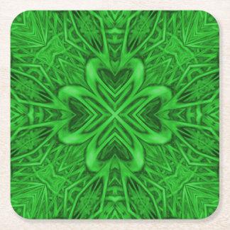 Celtic klöverKaleidoscopeunderlägg Underlägg Papper Kvadrat
