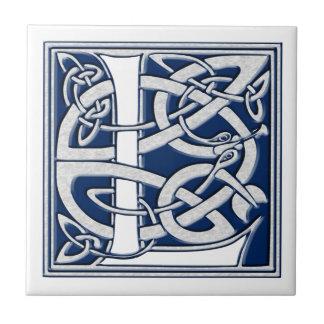 Celtic L Monogram Kakelplatta