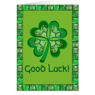 Celtic lycka till för Folk konst för Shamrock Hälsningskort