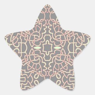 Celtic mönster för geometrisk tova stjärnformat klistermärke