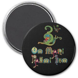Celtic Om-Mantramagnet Magnet Rund 7.6 Cm
