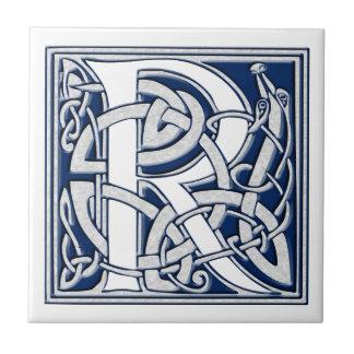 Celtic r-Monogram Kakelplatta