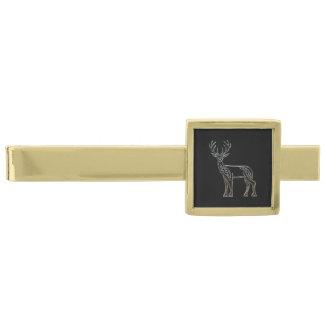 Celtic stilfnurra för silver och för svarthjort slipsnål med guldfinish