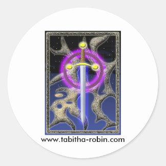 celtic svärd runt klistermärke