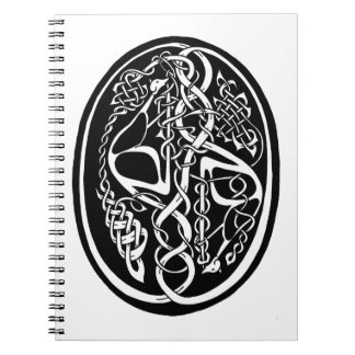 Celtic svartvit fnurrakänguru anteckningsbok