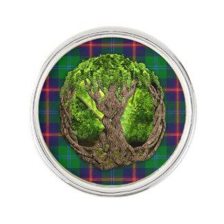 Celtic Tartan för livets trädklanbarn Kavajnål