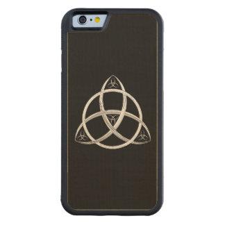 Celtic Trinityfnurra Carved Lönn iPhone 6 Bumper Skal
