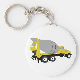 Cementera lastbilen rund nyckelring