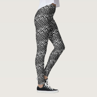 censurerat ord för typografi för svart leggings