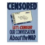 Censurerat Vykort