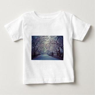 Central Park körsbärsröd blommarväg Tee Shirts