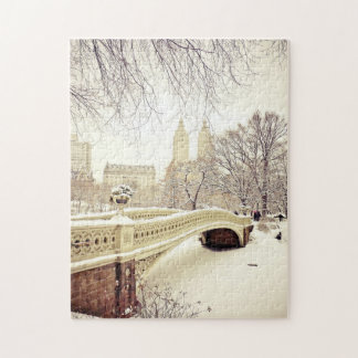 Central Park snö - vinter New York Pussel