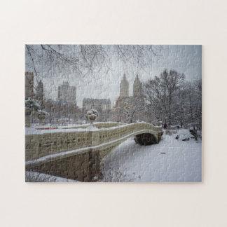 Central Park vinterpussel - pilbågen överbryggar Pussel