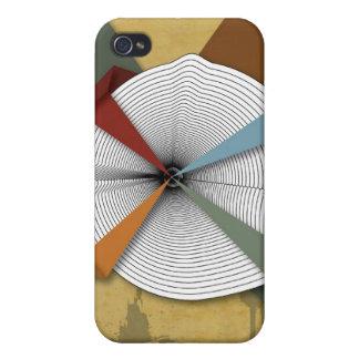 Centrera Dig-Digital Grungeabstraktkonst iPhone 4 Skal