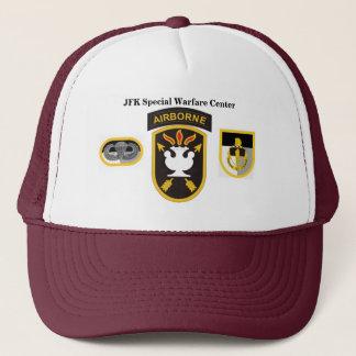 Centrerar speciellt krig för JFK hatten Truckerkeps