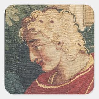 Cephalus och Procris, specificerar av huvudet av Fyrkantigt Klistermärke