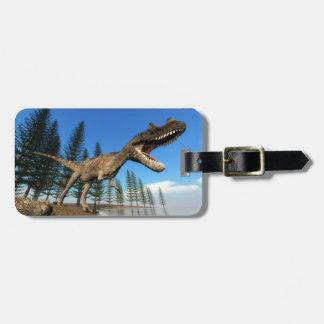 Ceratosaurusdinosaur på shorelinen bagagebricka