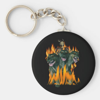 Cerberus i helvete rund nyckelring