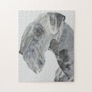 Cesky Terrier Headstudy Pussel
