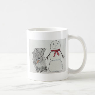 Cesky Terrier med snögubbe morot Kaffemugg