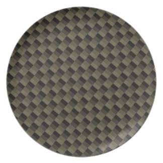 CF texturerade Carbonfiber Tallrik