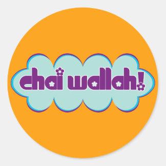 Chai Wallah Runt Klistermärke
