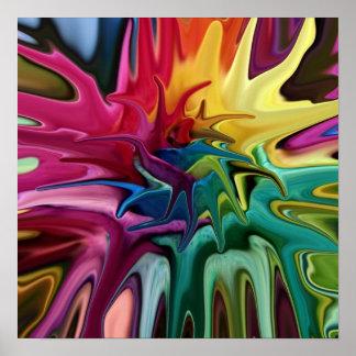 Chakra balanserar den ljusa färgglada abstrakt poster