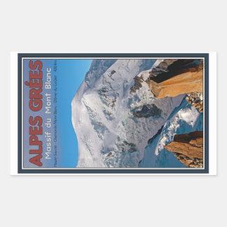Chamonix - Alpes Grees Rektangulärt Klistermärke