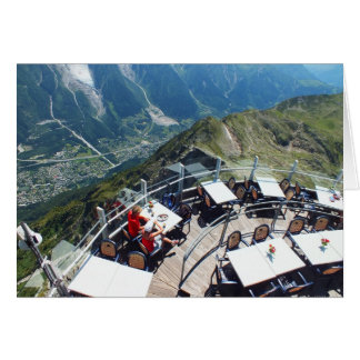 Chamonix i dalen, fransk alperna hälsningskort
