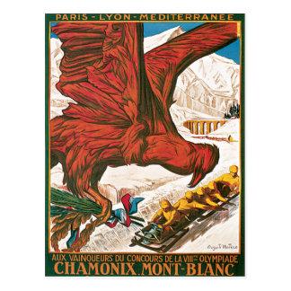 Chamonix Mont Blanc frankriken Vykort