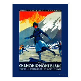 Chamonix-Mont Blanc vintage PosterEurope Vykort