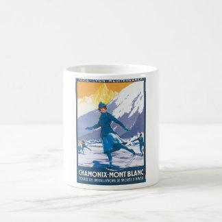 Chamonix Mont Blanc vintage resoraffisch Kaffemugg