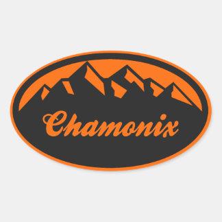 Chamonix Oval Ovalt Klistermärke