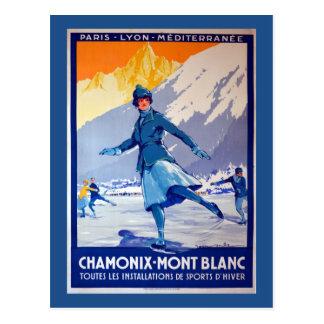 Chamonix Schweitz vintage resoraffisch Vykort